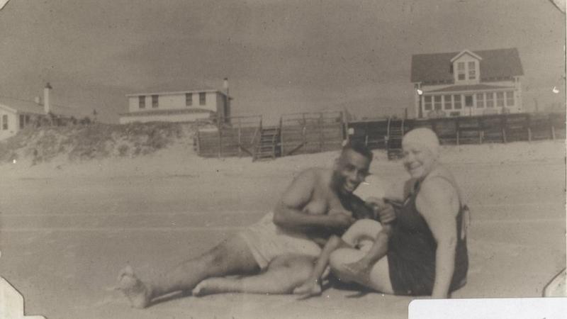 Bathers at American Beach.