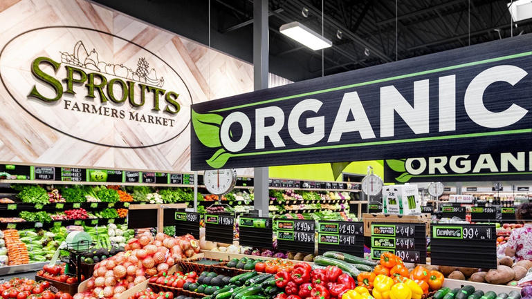 Sprouts focuses on its center-store produce. Departments include The Butcher Shop, Fish Market and The Market Corner Deli.