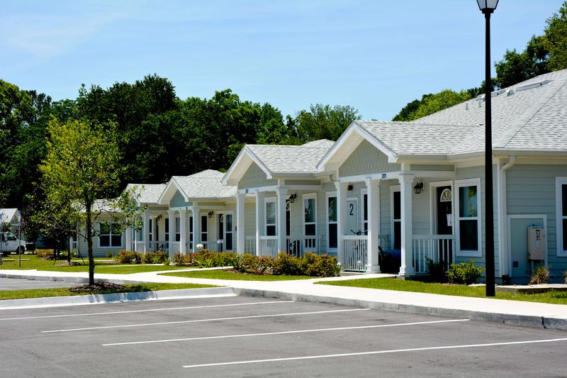 Pictured is Village on Wiley on Jacksonville's Westside. More than 80% of its residents have experienced chronic homelessness, according to Ability Housing.