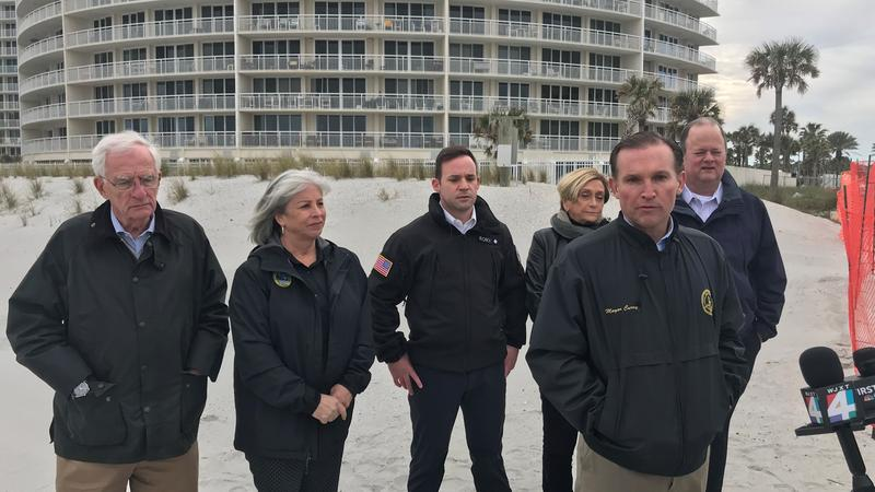 Left to right, with Mayor Lenny Curry front and center: Bill Gulliford, Ellen Glasser, Rory Diamond, Elaine Brown and Charlie Latham.