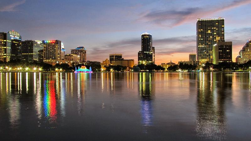 Orlando's Director of the Office of Sustainability & Resilience says buildings contribute to climate change. Pictured is the downtown Orlando skyline as seen from Lake Eola.