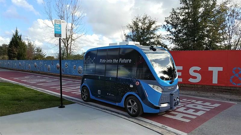 The Navya Autonom Shuttle is the third in a series of autonomous vehicles that JTA is testing.