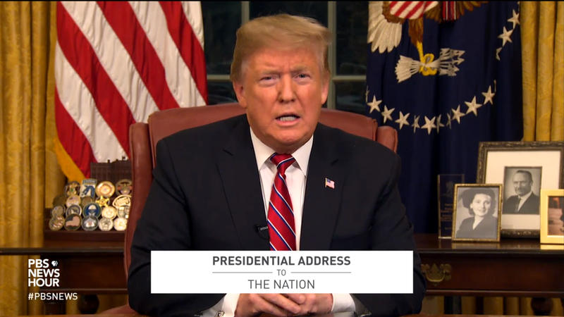 President Donald Trump addressed the nation Tuesday night.