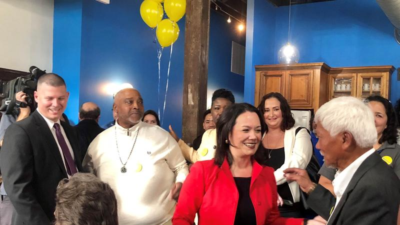 Councilwoman and community leader Anna Lopez Brosche at her Mayoral campaign kickoff