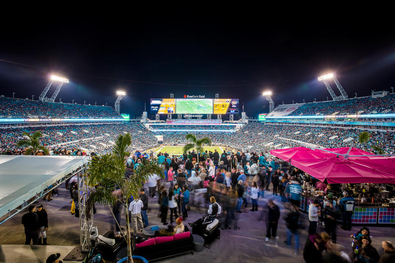 Since Shad Khan purchased the Jaguars, TIAA Bank Field has been upgraded with what has been billed as the largest scoreboards in the world.