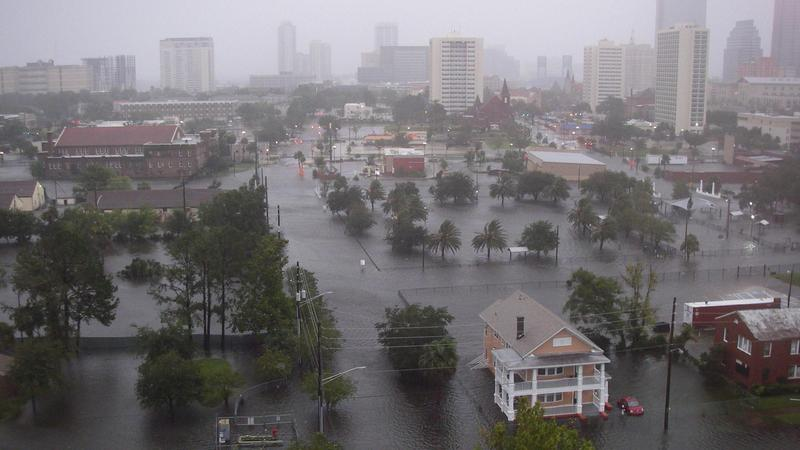Flooding in Jacksonville after Hurricane Irma.