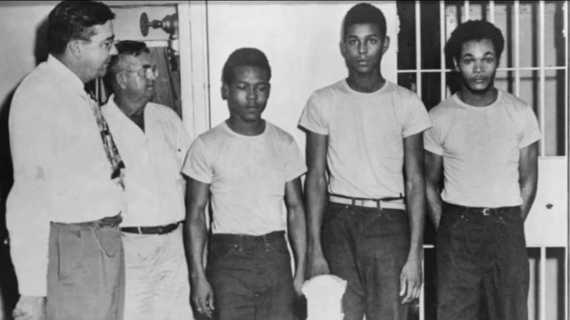 """This undated file photo shows members of the """"Groveland Four."""""""