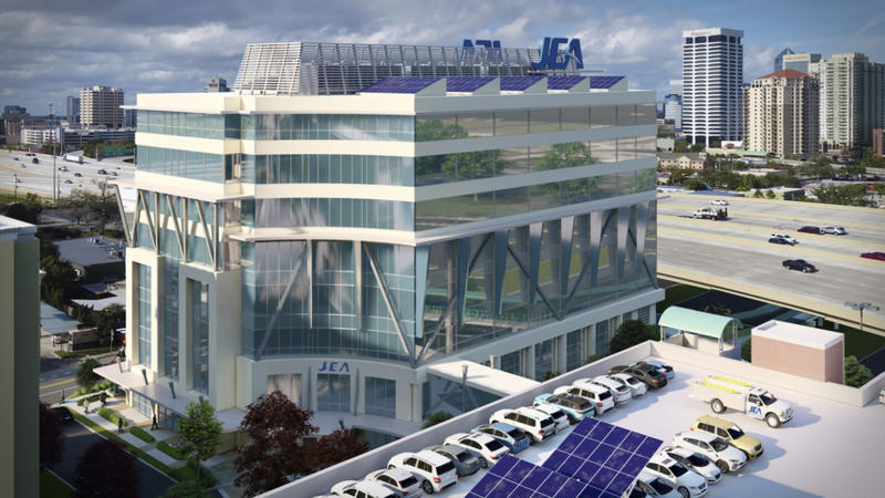 The JEA headquarters would be near Interstate 95.