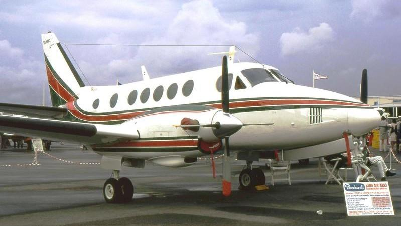 A Beechcraft King Air A100 is pictured for story illustration purposes. It is not the King Air that has been used to carry Gov. Ron DeSantis.