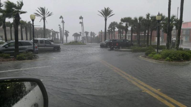 Flooding at Atlantic Blvd. in Atlantic Beach during Hurricane Irma.