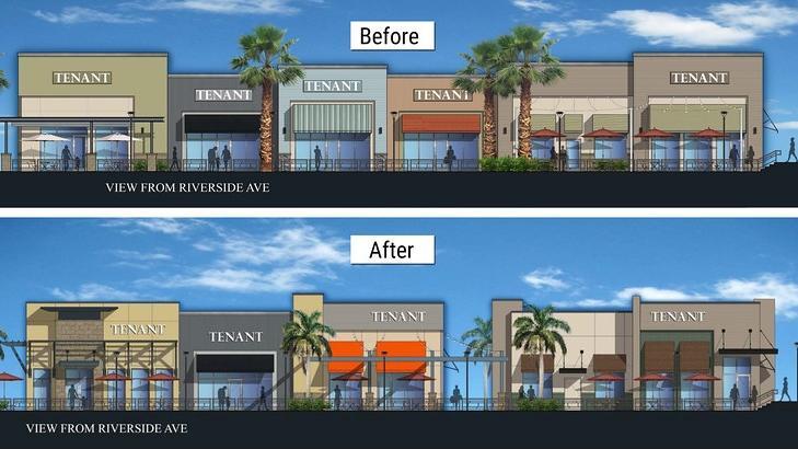 artist renderings of shopping center