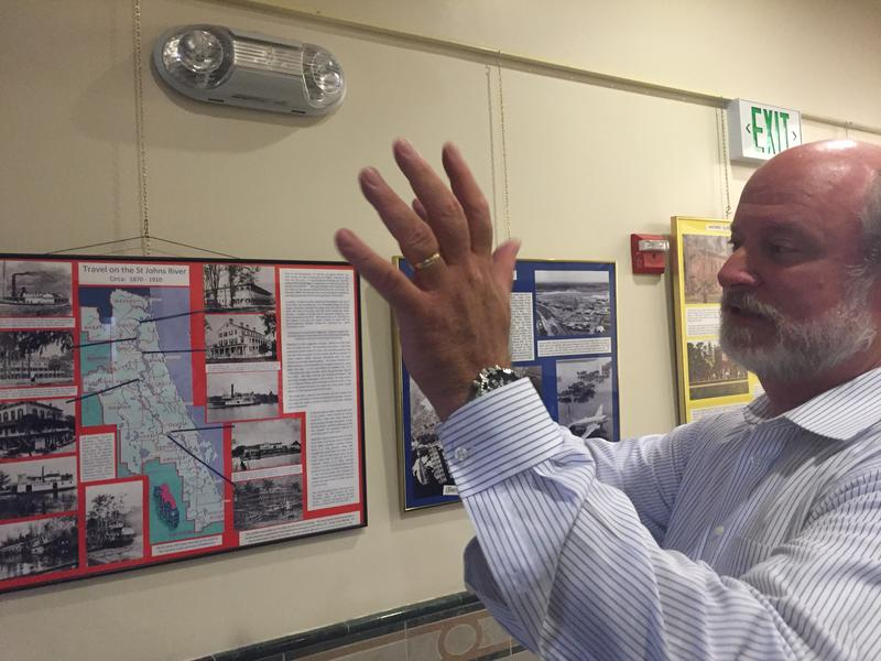 Green Cove Springs Mayor Van Royal explains some of the city's history at City Hall Tuesday.