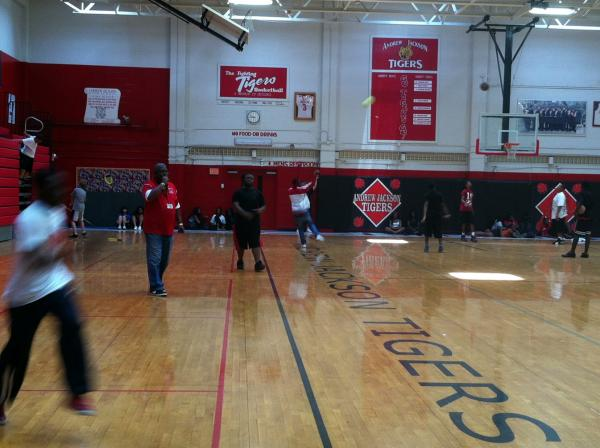 Coach Jackie Simmons rules the Andrew Jackson High School gym.