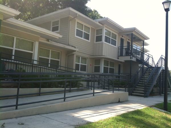 Unit at Mayfair Village Apartments. Beach Boulevard complex provides affordable housing for chronically homeless and disabled.