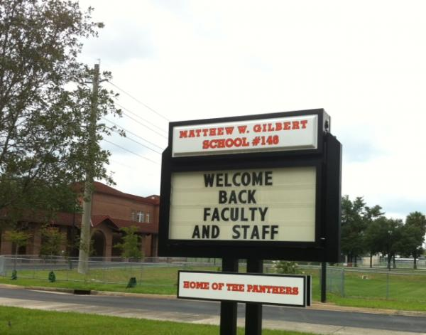 Matthew Gilbert Middle School welcomes back faculty for the 2014-15 school year.