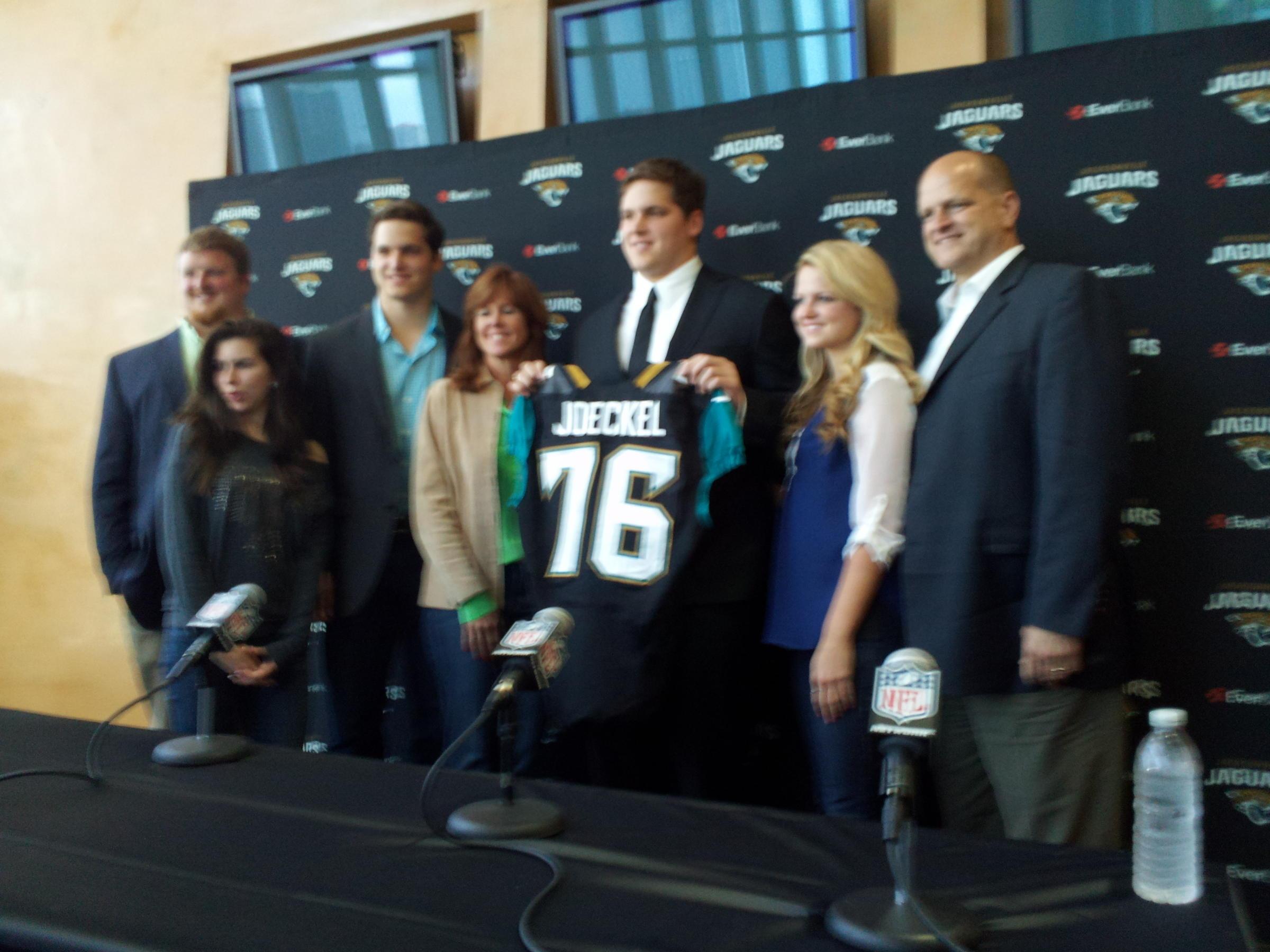 Newest Jaguar Luke Joeckel Meets Jacksonville Wjct News