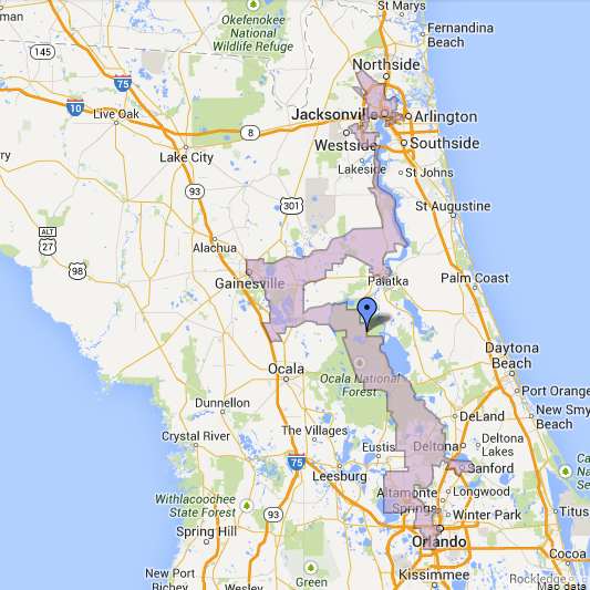 Florida Congressional Districts Map.In Testimony Gaetz Defends Evolution Of Controversial District