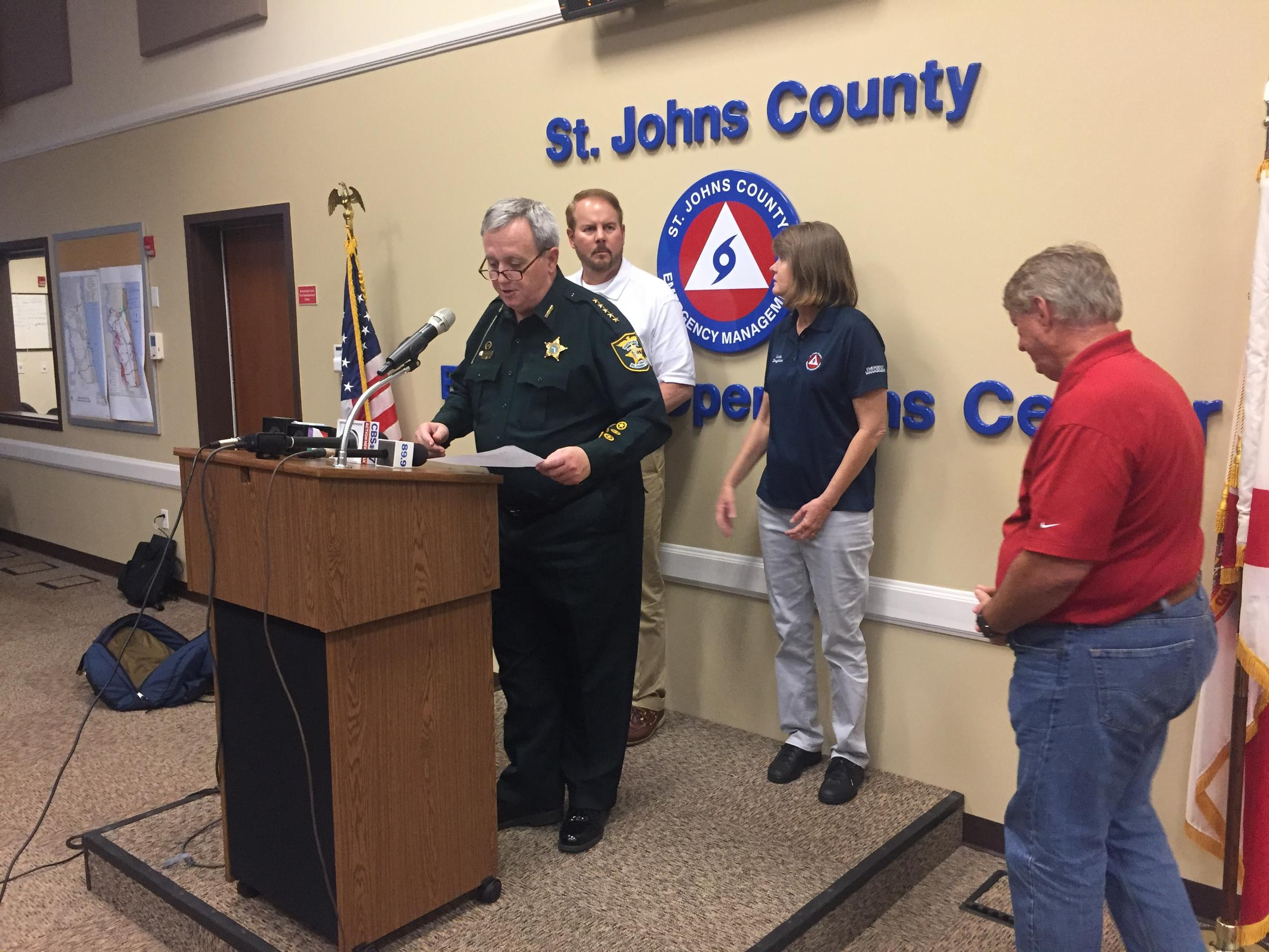 Johns County urges residents in evacuation zones to evacuate immediately