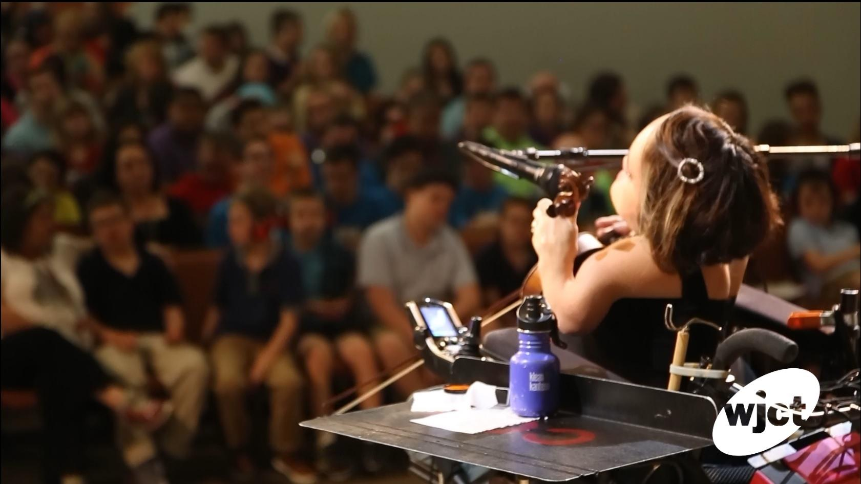 Gaelynn Lea The Winner Of Nprs  Tiny Desk Contest Performed Monday At The