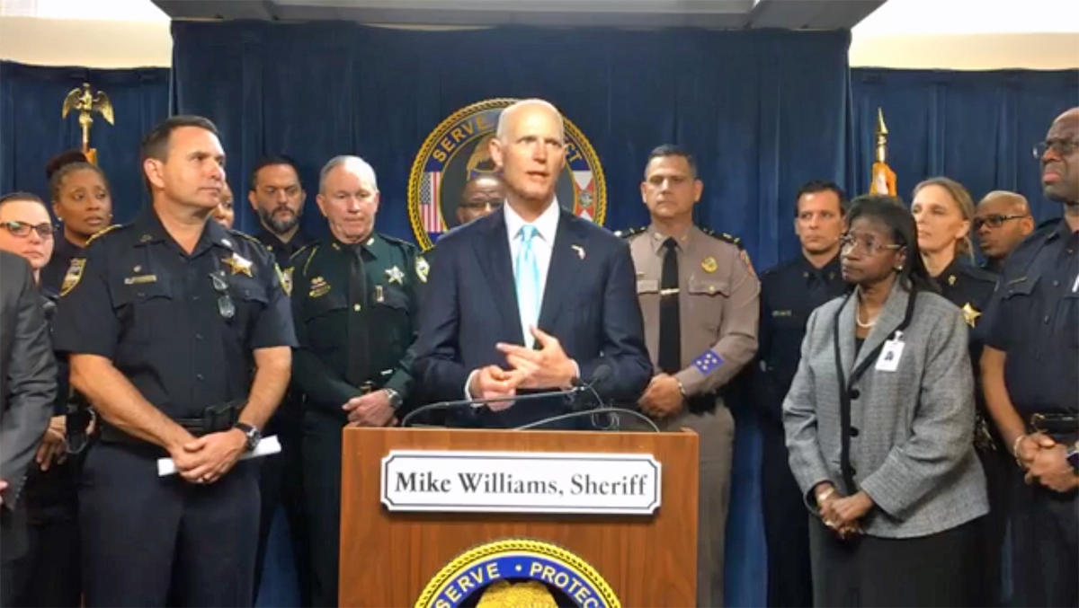 Rick Scott highlights plan to keep Florida students safe