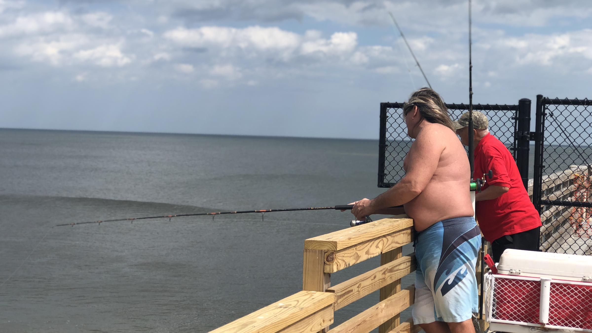 Anglers rejoice as jacksonville beach pier reopens wjct news for Harrison fishing pier