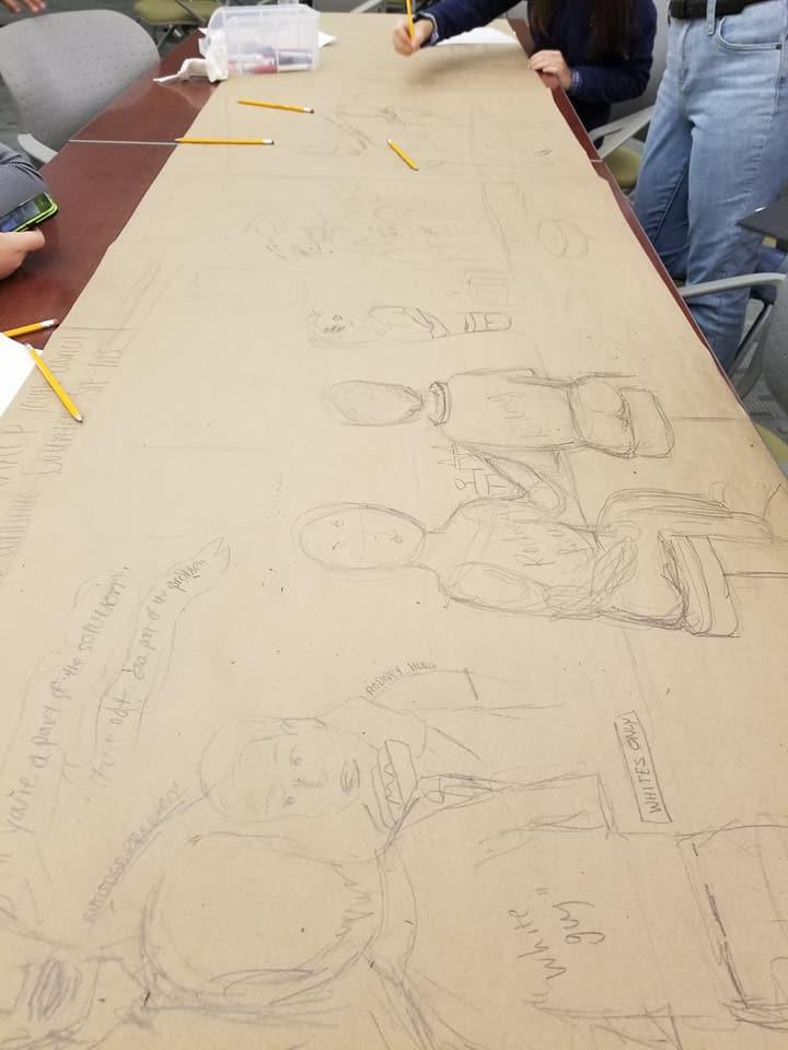 New eastside mural will teach story of civil rights for Construction mural