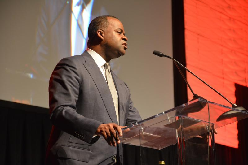 Kasim Reed announces plans for airport developments at the Georgia World Congress Center.