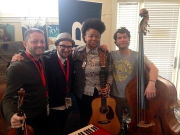 Velvet Caravan (pictured here with Amethyst Kiah) will play with the Savannah Philharmonic on Saturday.