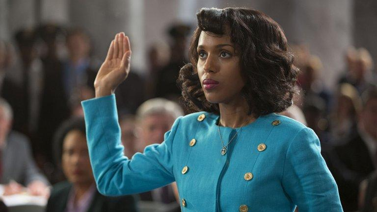 Kerry Washington stars as Anita Hill in the HBO movie, Confirmation. It is showing this year at the Atlanta Film Festival.