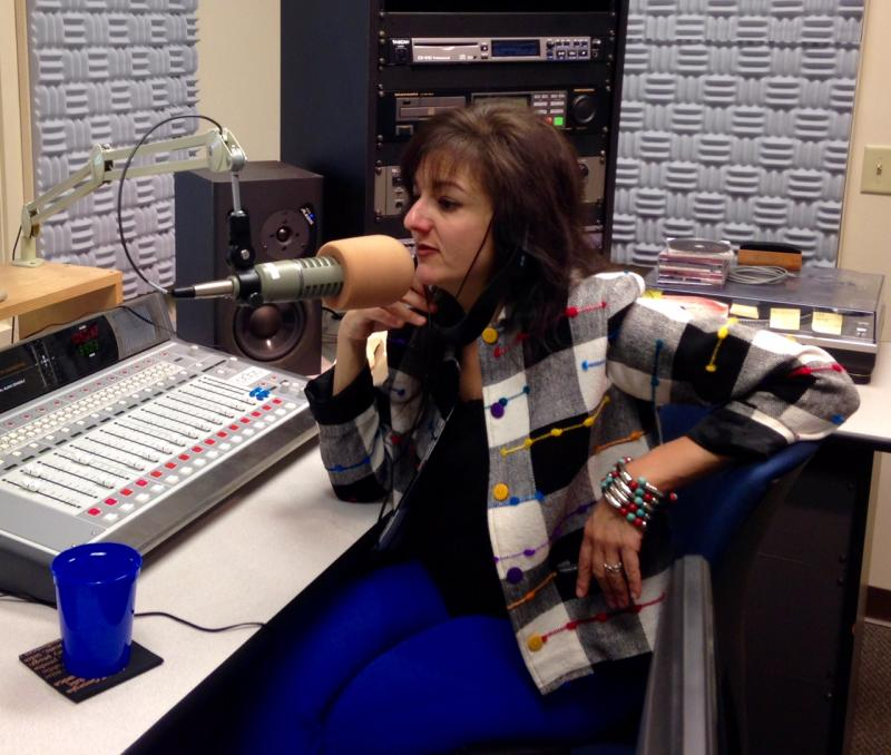 Soprano singer Maria Zouves in our GPB Savannah studio.