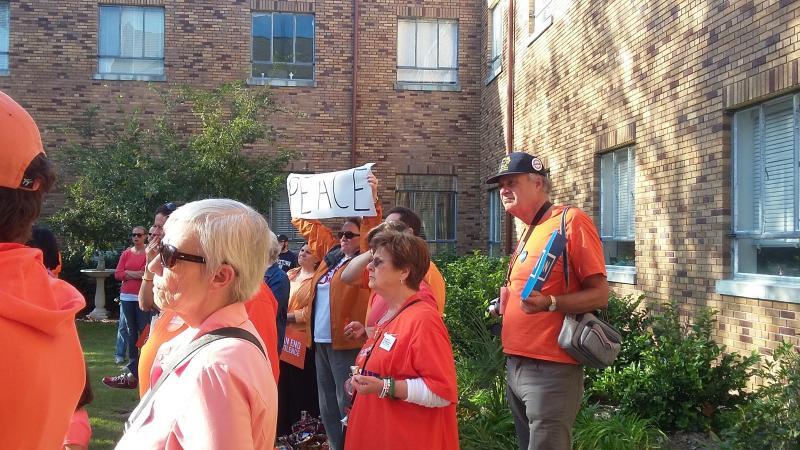Savannah residents gather at Ribbons for a Reason antiviolence rally.