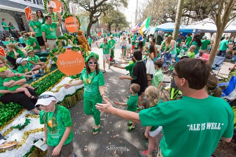 Parade watchers will line the streets of downtown Savannah for much of Thursday.