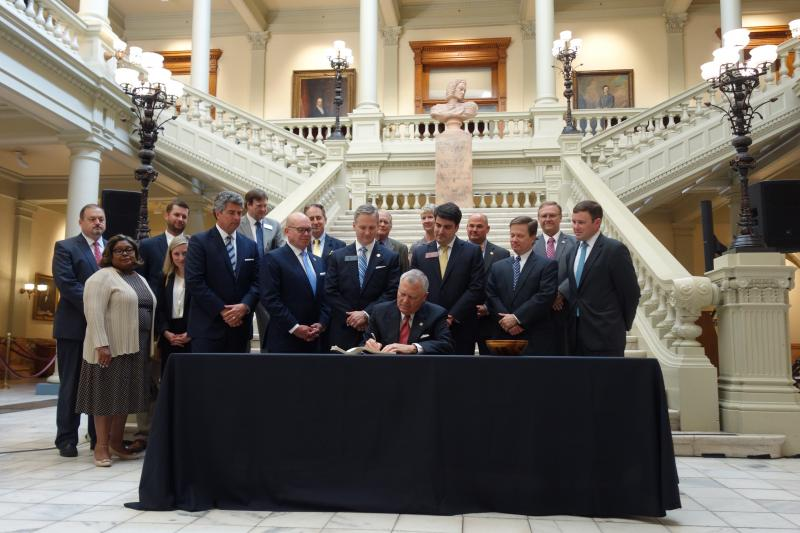 Governor Deal signs Senate Bill 367 into law.