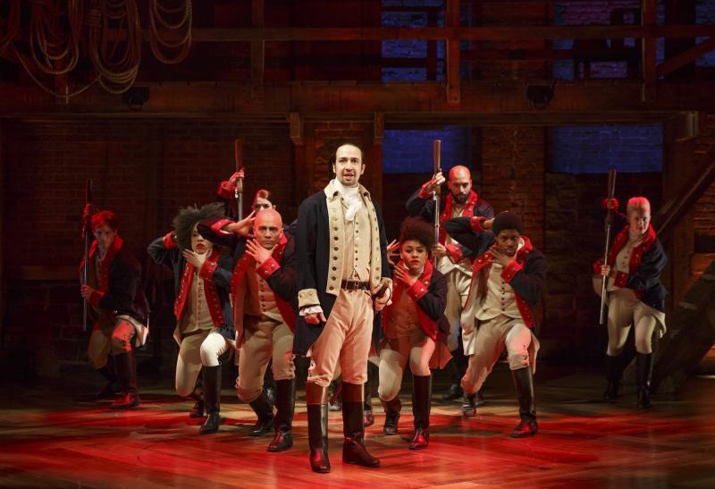 "The cast of ""Hamilton."""