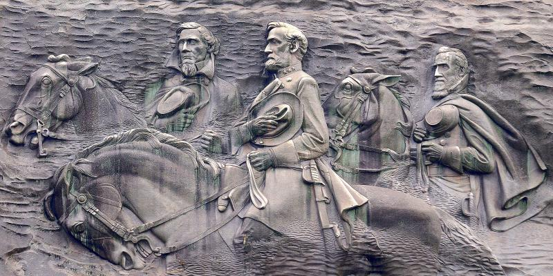 Stone Mountain is Georgia's most famous Confederate monument.