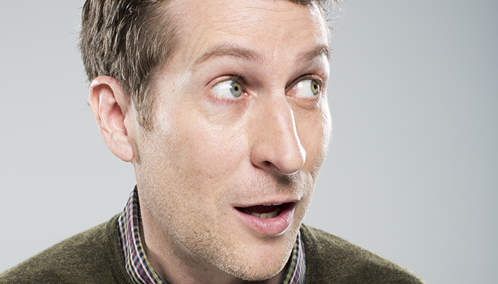 "Scott Aukerman hosts the podcast and TV show ""Comedy Bang Bang."""