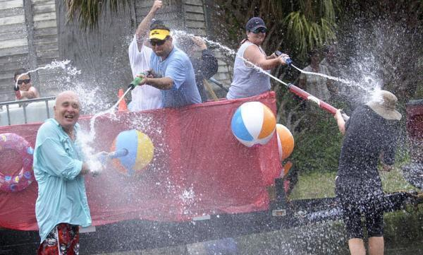 Join the water-gun fray at Tybee's Beach Bum Parade on Friday.