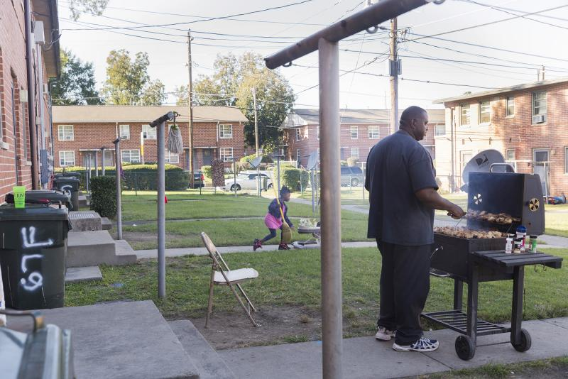An afternoon in October, 2015 in the Tindall Heights public housing project in Macon, Ga.