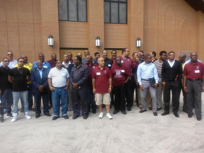 A photo of current members of Antioch A.M.E. Church.