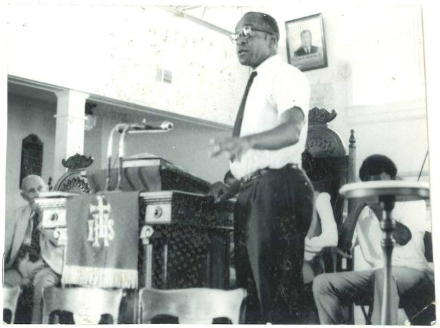 W. W. Law speaking at a church meeting, circa 1960s.