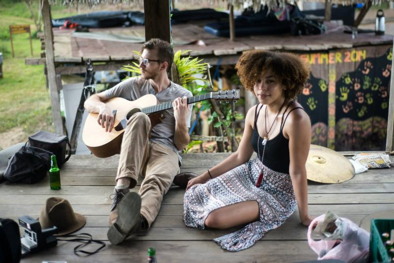Brock Scott and Nirvana Kelly are members of the Atlanta-based group, Little Tybee. Here they are during a tour stop in Panama.
