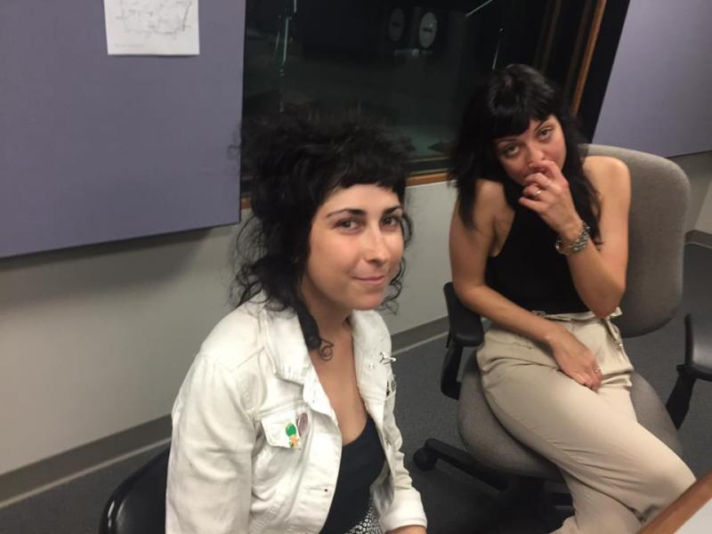 Meredith Franco and Julia Kugel of the Atlanta-based punk rock group, The Coathangers.