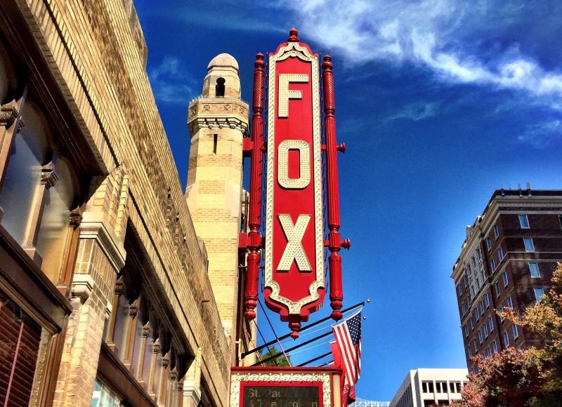 The entrance to the Fox Theatre in Atlanta