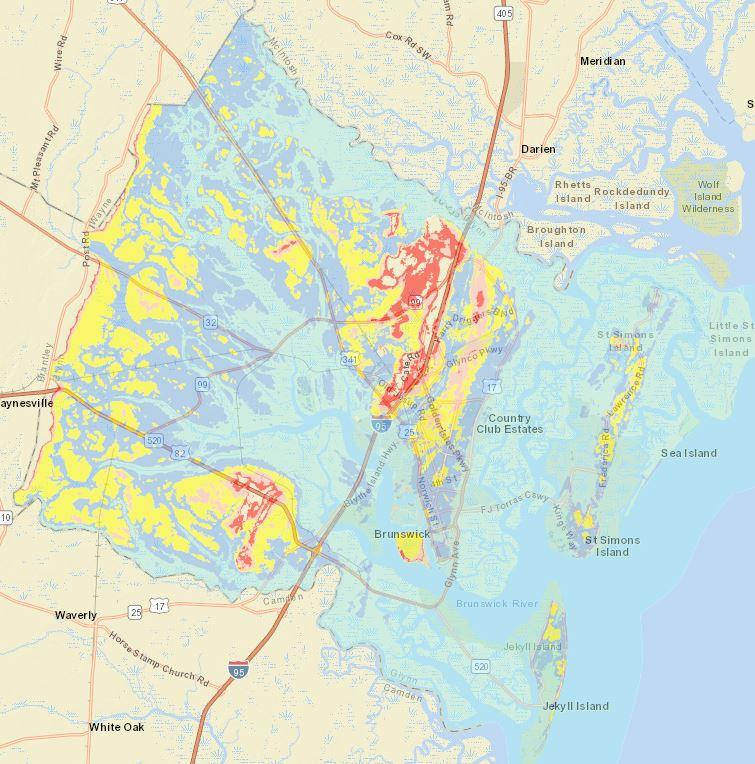 After Days Of Planning Glynn County Anxiously Waits For Hurricane - Georgia map hurricane