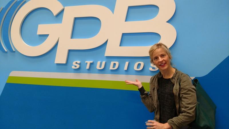 Comedian Maria Bamford in GPB's Atlanta studio.