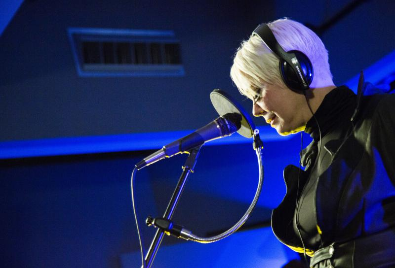 Cindy Wilson in the GPB Performance Studio