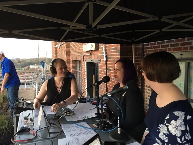 Rickey Bevington interviews Holly Frey and Tracy V. Wilson of the Stuff You Missed In History Class podcast.