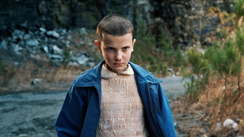 'Stranger Things' star Millie Bobby Brown during the first season of the show. The second season of the popular Netflix show is currently under production in Atlanta.