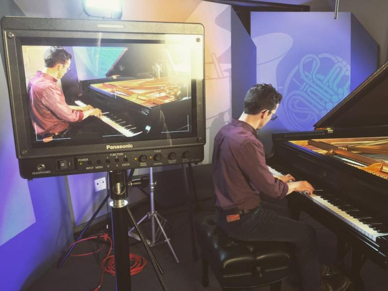 Atlanta-based pianist John Burke plays in the GPB Performance Studio