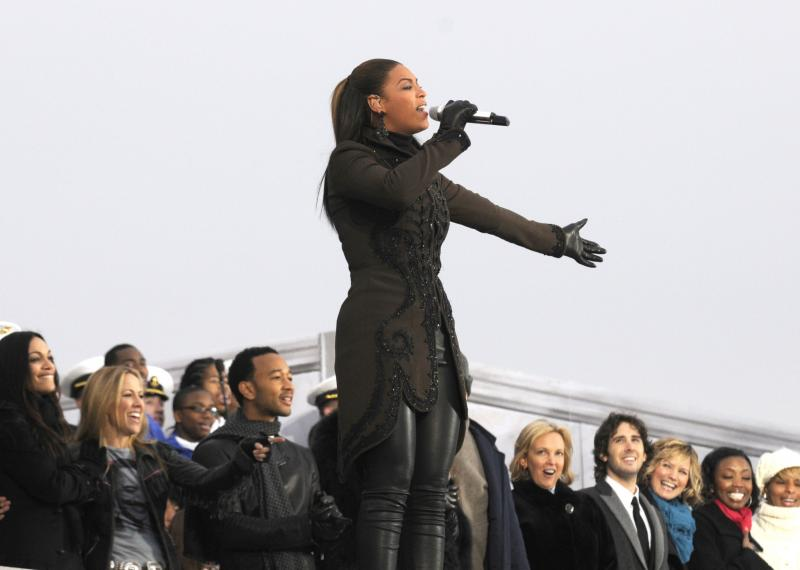 Beyonce performs at Barack Obama's Second Inauguration in 2013.
